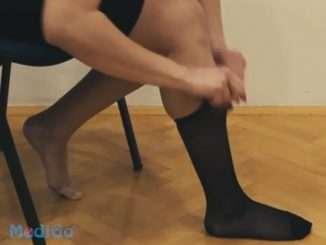 Kompresijske nogavice za pomoč pri zdravljenu in odpravi krčnih žil
